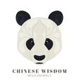 Chinese panda vector image