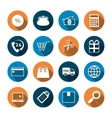 Shopping Icons with Shadow vector image