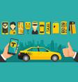 taxi drive service icon vector image