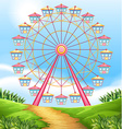 A ferris wheel ride vector image vector image