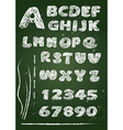 ABC - English alphabet written on a blackboard vector image vector image