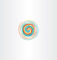 abstract colorful spiral tornado icon background vector image vector image