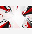 abstract triangle black and red color with copy vector image vector image