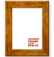 Background with oak frame vector image vector image