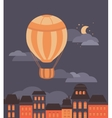 Balloon and the city vector image