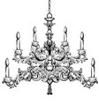 baroque chandelier luxury decor accessory design vector image vector image
