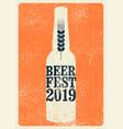 beer fest 2019 typography vintage grunge poster vector image vector image