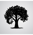 Black Tree Isolated on White Background vector image vector image