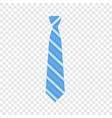 blue striped tie icon flat style vector image vector image