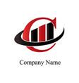 c financial logo vector image vector image