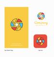 camera shutter company logo app icon and splash vector image