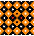 Card Suits Orange Black Diamond Background vector image vector image