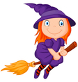 Cartoon flying wizard vector image vector image