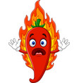 cartoon hot chili pepper vector image vector image