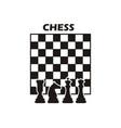chess logo design vector image