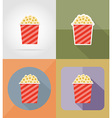 cinema flat icons 14 vector image vector image