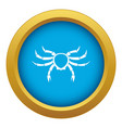 crab sea animal icon blue isolated vector image