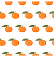 Cute seamless pattern with mandarins vector image vector image