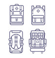different backpacks set vector image vector image