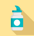 diving pill icon flat style vector image vector image