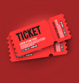 ed vip entry pass ticket stub design template vector image