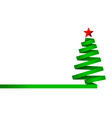 green christmas tree made from ribbon vector image