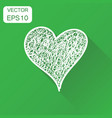 hand drawn heart icon business concept love heart vector image vector image