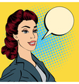 Happy Businesswoman Bubble for Expression Pop Art vector image vector image