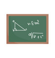 happy teachers day chalkboard with math lesson vector image vector image