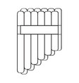 isolated panflute icon musical instrument vector image