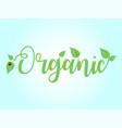 logo organic text emblem vector image
