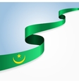 Mauritanian flag background vector image vector image