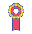 medal symbol to winner of competition game vector image vector image