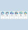 mobile app onboarding screens business desk vector image vector image