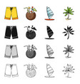 nature leisure sport and other web icon in vector image vector image