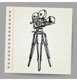 Old doodle hand-drawn camera vector image