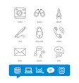 photo startup rocket and search icons vector image vector image