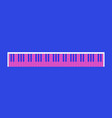 piano keys retro style 80s pink and blue vector image