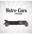 Retro limousine cabriolet car vintage collection vector image vector image