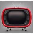 Retro red tv vector image vector image