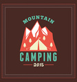 Retro Vintage Summer Camping Badge Mountine vector image