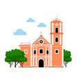 san agustin church vector image