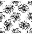 seamless pattern with black and white meadow vector image vector image