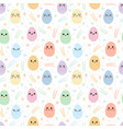 seamless pattern with colorful easter eggs happy vector image