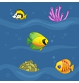 Seamless pattern with fishes in underwater world vector image