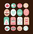 set cute gift tags vector image vector image
