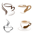 set of coffee logos vector image