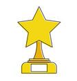 star trophy winner icon vector image