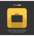Suitcase icon in modern flat design Yellow and vector image vector image