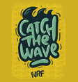 surfing surf design hand drawn lettering type lo vector image vector image